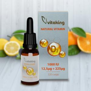 Vitaking D3+K2+K1 vitamin csepp 10 ml (160 adag)