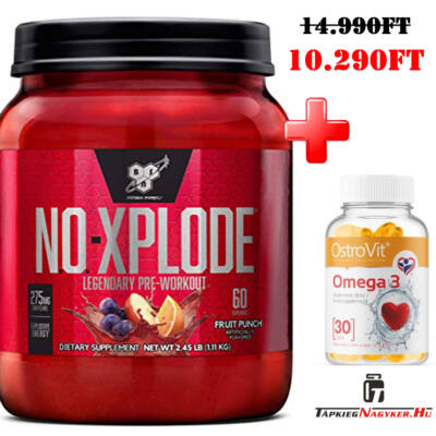 BSN NO-XPLODE 3.0 1kg +ajándék omega 3