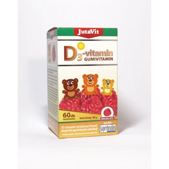 JutaVit D3-vitamin Gumivitamin 60db - Málna