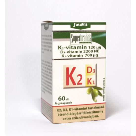 JutaVit K2,- D3,- K1-vitamin - 60db