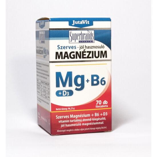 JutaVit Szerves Magnézium + B6 + D3 filmtabletta 70db
