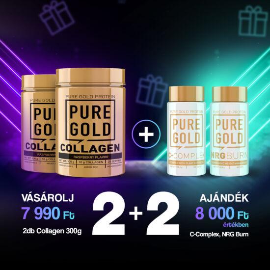 PureGold 2 db Marha Collagen 300g vásárlása esetén + 1 db NRG Burn 60 caps + 1 db C-Complex ingyen!