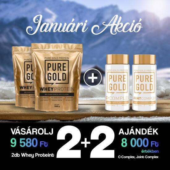 PureGold 2 db Protein 1000g vásárlása esetén+ 1 db C-Complex + 1db Joint Complex 90 caps ingyen!