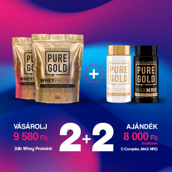 PureGold 2 db Protein 1000g vásárlása esetén  + 1 db Max NRG 60 caps + 1 db C-Complex ingyen!