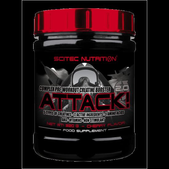 Scitec Nutrition Attack 2.0 - 320g + ajándék C vitamin