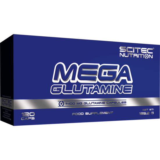 Scitec Nutrition Mega Glutamine 120db + ajándék C vitamin