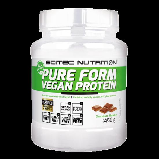 Scitec Nutrition Pure Form Vegan Protein - 450g + ajándék C vitamin