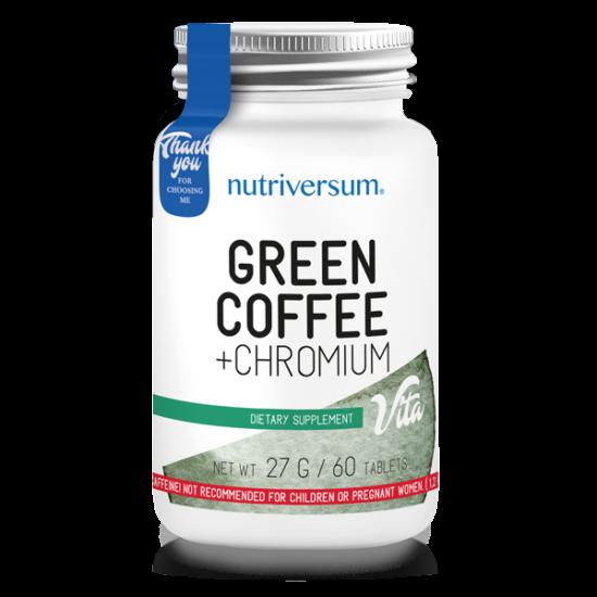 Nutriversum Green Coffee + Chromium VITA - 60 tabletta