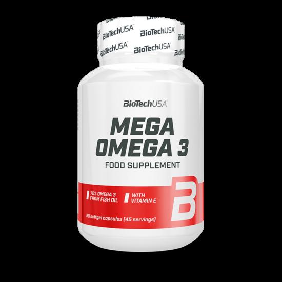 BiotechUSA Mega Omega 3 - (2x90db) lágykapszula