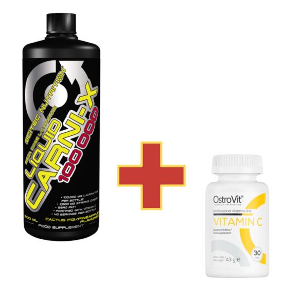 Scitec Nutrition Carni-X Liquid 100 000 - 500ml + ajándék C vitamin