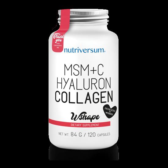 Nagyker MSM+C Hyaluron Collagen - 120 kapszula - WSHAPE - Nutriversum