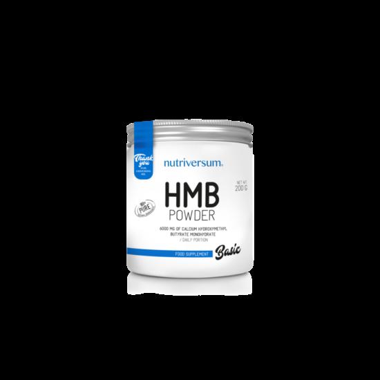 Nutriversum BASIC HMB Powder 200g Izesitetlen