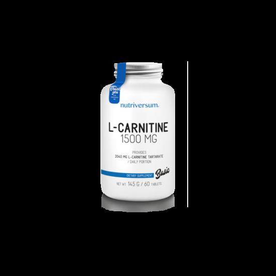 Nutriversum BASIC L-carnitine 1500mg 60 tabletta