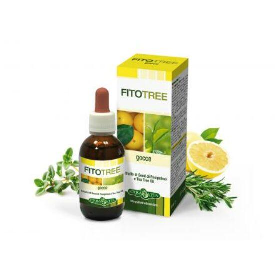 ErbaVita® FitoTree Baktériumölő, fertőtlenítő grapefruit, teafa, rozmaring és kakukkfű olaj - Külsőleg/Belsőleg! 10 ml