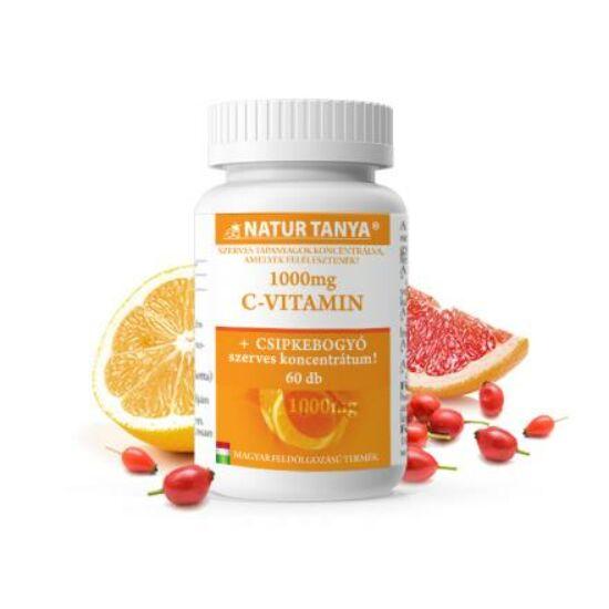 Natur Tanya® Retard C-vitamin 1000 mg - Folyamatos felszívódású, magas biohasznosulású magyar termék