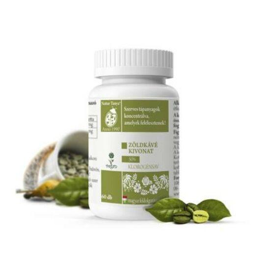 Natur Tanya® Szerves Zöld kávé tabletta - Testsúlycsökkentő, 50%-os klorogénsav tartalommal!