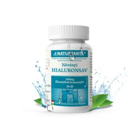 Natur Tanya® Szerves hialuronsav – Fermentált, magas biohasznosulású, 100mg/tabl. hatóanyag tartalommal