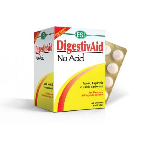 ESI® No Acid Nagy, 60 szemes kiszerelés - Természetes savlekötő, lúgosító. Gyomorégés, puffadás. 60x