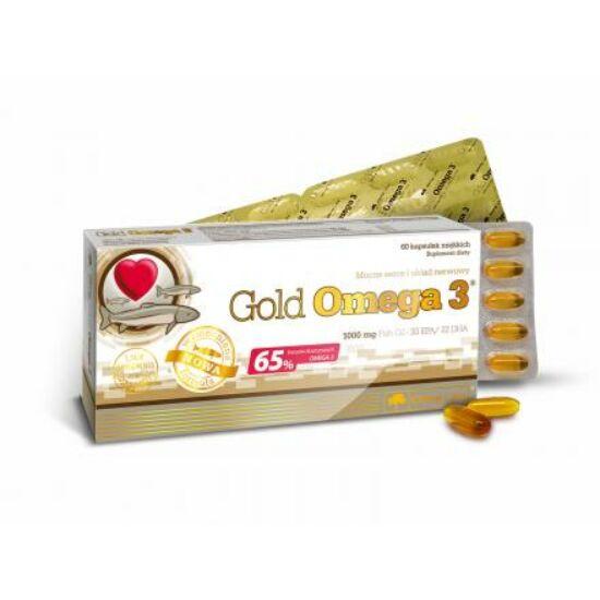 Olimp Labs® Gold Omega3®+ E kapszula - Magas EPA (330mg) és DHA (220mg) Zsírsav tartalommal (F-vitamin)
