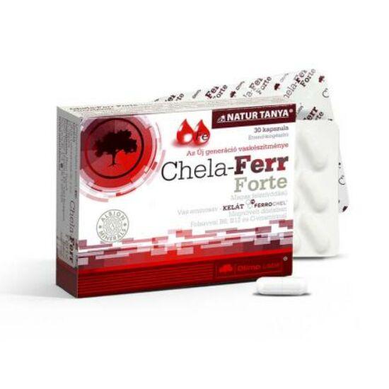 Olimp Labs® Chela-Ferr® FORTE - Világszabadalommmal védett, Újgenerációs szerves kötésű vaskapszula!
