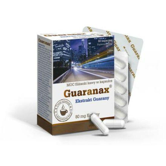 Olimp Labs® Guaranax™ Guarana kapszula - késleltetett feszívódású növényi koffein forrás. Standardizált guaranin tartalom!