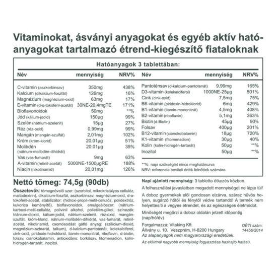 vitaminok látásra / g)